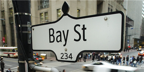 Stocks on Bay St Finish Higher